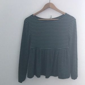 Urban Outfitters striped long sleeve top